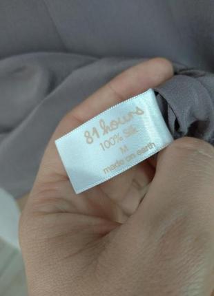 🛍️super sale🛍️  100% шелковая блуза необычного цвета размер м3 фото