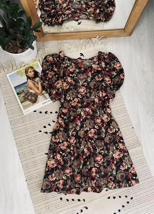Плаття в квітковий принт з натуральної тканини від next🌿