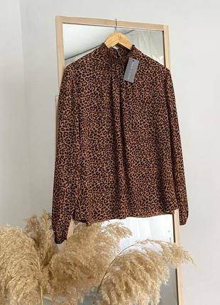 Блузка в леопардовый принт new look