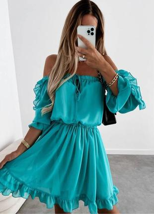 Платье, летнее платье, шифоновое платье