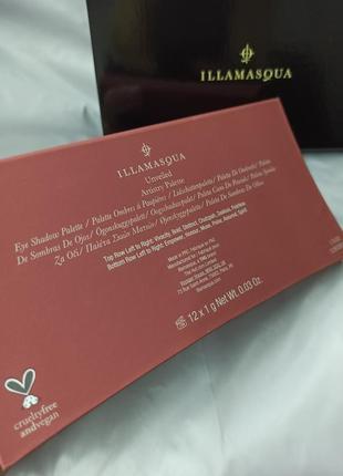 Палетка теней illamasqua unveiled artistry palette5 фото