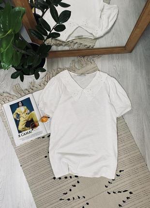 Біла котонова футболка від george🌿