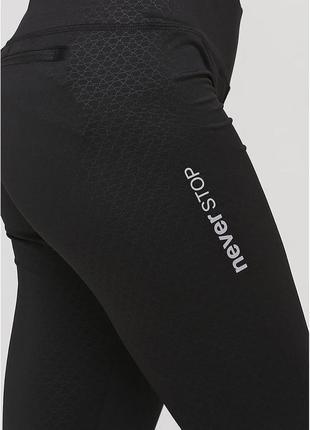 Леггинсы черные crivit  лосины для занятий спортом бег йога фитнес танцы супер цена распродажа акция