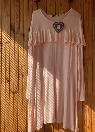 Лёгкое платье персикового цвета
