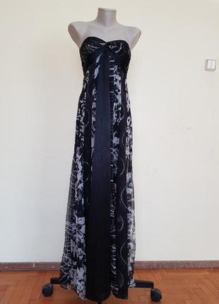 Шикарное вечернее нарядное платье шёлк monsoon