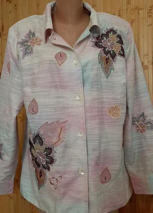 Дизайнерская рубашка жакет пиджак вышивка indigo moon