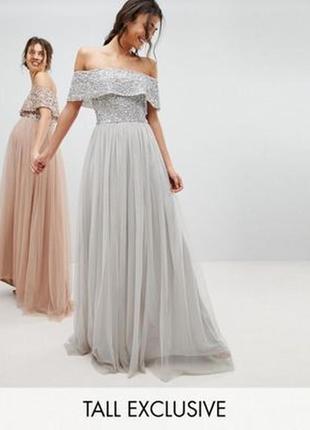 Тюлевое платье