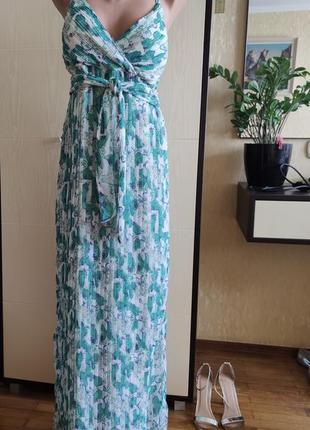 Шикарное летнее воздушное пдатье в пол сукня довга next