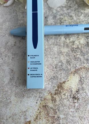 Набор карандашей alleyoop в ручке  для губ глаз бровей и хайлайтер6 фото