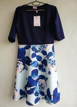 Платье на запах, размер 14