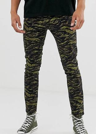 Скинни,джинсы милитари