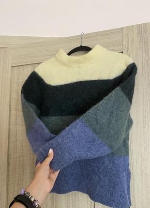 Дорогой бренд шикарный шерстяной свитер джемпер альпака samsoe samsoe