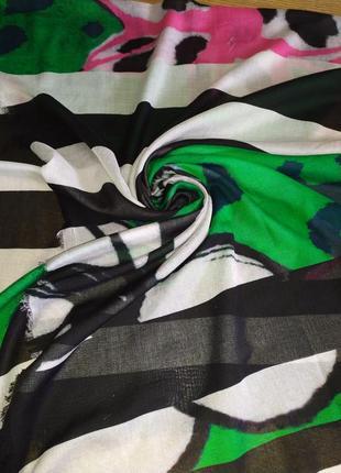 Фирменный натуральный шарф палантин шаль