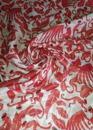 Фирменный прекрасный льняной шарф палантин шаль