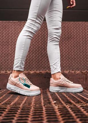 Nike air force pixel pinck 🍏 стильные женские кроссовки найк аир форс пиксель