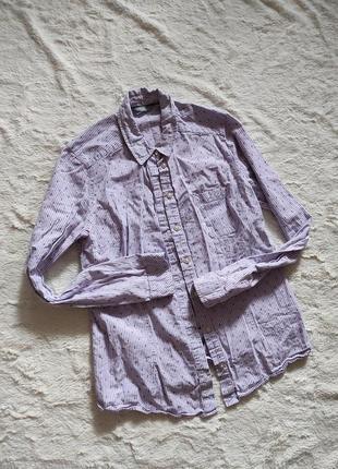 Нежная лавандовая женская рубашка блуза размер с/хс можно девочке подростку