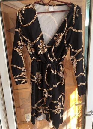 Платье с цепями zebra
