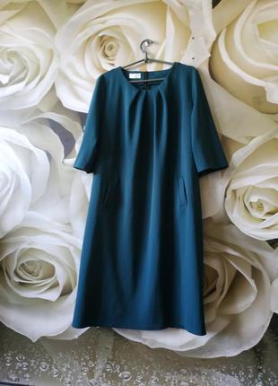Платье миди свободного кроя с боковыми карманами