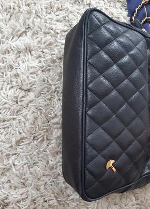 Шикарная стеганная кожаная сумка на цепочке, bias6 фото