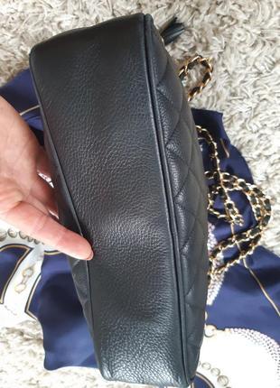 Шикарная стеганная кожаная сумка на цепочке, bias8 фото