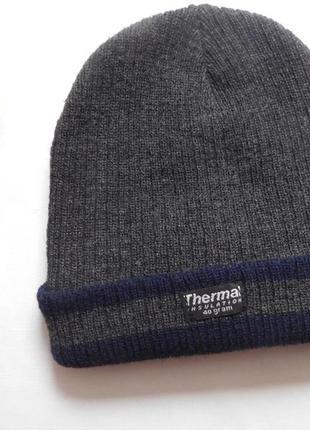 Шапка для мальчика thermal insulation с утеплителем thinsulate 40 g