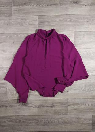 Свободная блуза рубашка цвета фуксии