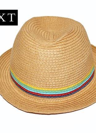 Соломенная шляпа next на мальчика 3-4 года