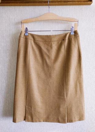 Люксовая фирменная юбка, шерсть, р.38,40