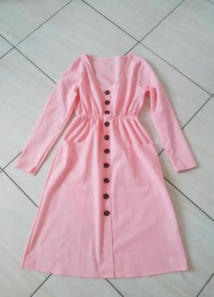 Ніжне пудрове плаття xizi хлопкове