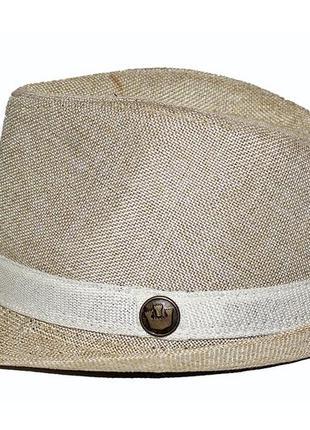 Стильная шляпа на мальчика 7-8-9 лет 35% cotton