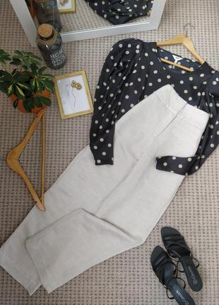 Актуальные прямые брюки высокая посадка h&m