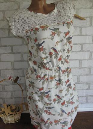 Платье летнее в принт eur 34-36