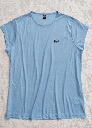 Футболка helly hansen голубого цвета, дышащая легчайшая