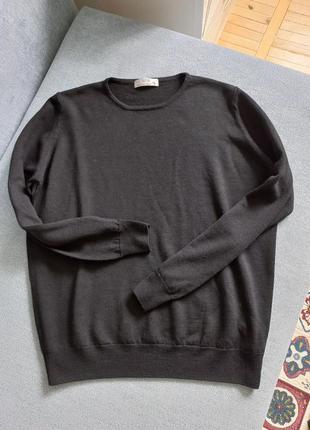 Шерсть 100 мягкий базовый свитер