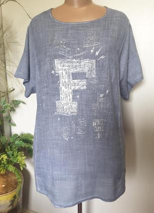 Итальянская блуза-футболка из натуральных тканей