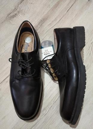 Натур кожа туфли м&s р8.5, евро 42.5,  по чтельке 28-28.2см