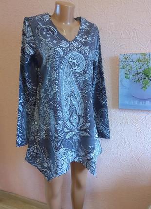 Красивая легкая блуза  туника misslook хлопок + полиэстр акция 1+1 =3