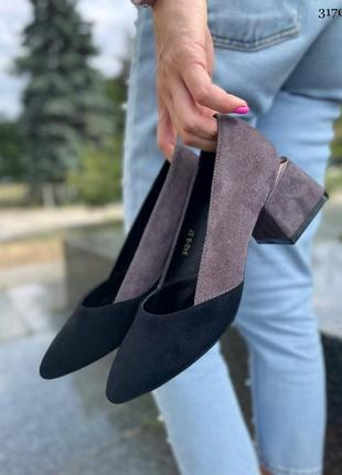 Туфли на удобном каблуке🌿