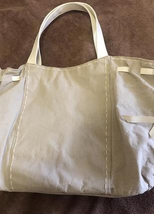 Льняная сумка lancôme