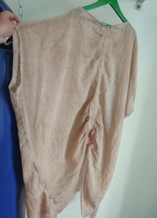 Роскошная кофточка блуза studio из натуральной ткани большого размера7 фото