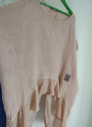 Роскошная кофточка блуза studio из натуральной ткани большого размера10 фото