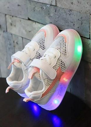 Крутые кроссовки с led подошвой