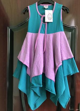 Шикарное платье, сарафан, с ассиметричной юбкой от lilli lovebird. 110/116