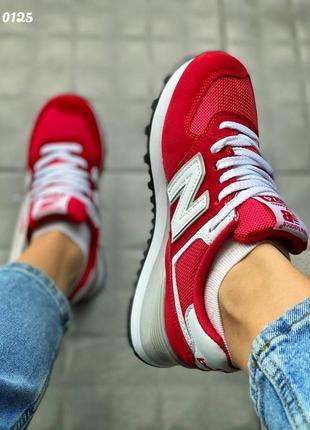 Кроссовки красные нью бэланс   червоні кросівки new balance
