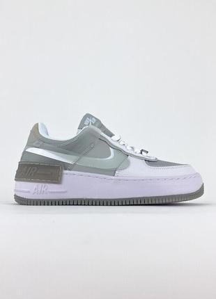 Кроссовки nike air force shadow white grey