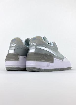 Кроссовки nike air force shadow white grey4 фото