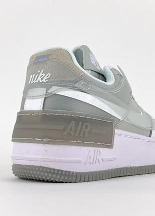 Кроссовки nike air force shadow white grey5 фото