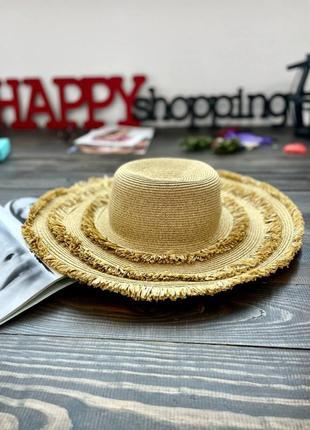 Бежевая соломенная шляпа san diego hat