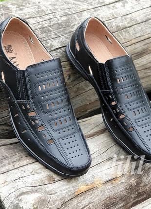 Мужские босоножки сандалии кожаные черные - чоловічі босоніжки сандалі шкіряні чорні