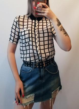 Блуза рубашка в клетку atmosphere блузка в клітинку